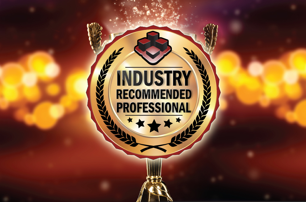 Introducing the Industry Recommended Professional!